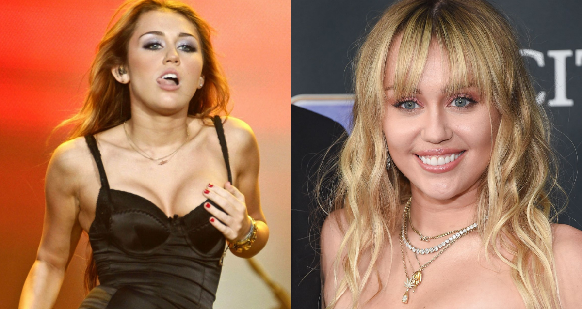 Miley Cyrus Just Posed in Her Bright Red Bra and Underwear